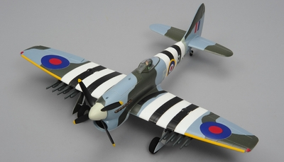 Airfield Tempest 4 Channel RC Warbird Airplane Ready to Fly 800mm Wingspan
