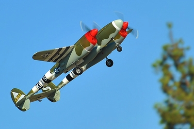 AirWing P38 Lightning 6 Channel RC Plane Warbird EPO Kit (Camo) RC Remote Control Radio