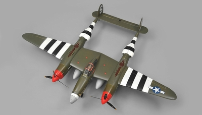 AirWing P38 Lightning 6 Channel RC Plane Warbird EPO Kit (Camo)