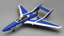 Airwing RC Bobcat 6 Channel Pusher Plane RC Kit 1143mm WingSpan (Blue)