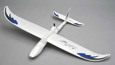 Airwing RC WingSurfer Airplane Glider 4 Channel 2.4ghz Ready to Fly RC 1400mm Wingspan (AA Blue)