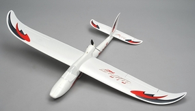 Airwing RC WingSurfer Airplane Glider 4 Channel Almost Ready to Fly RC 1400mm Wingspan (AA Red)