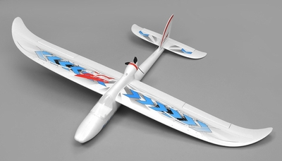 Airwing RC WingSurfer Airplane Glider 4 Channel Almost Ready to Fly RC 1400mm Wingspan (Blue) RC Remote Control Radio