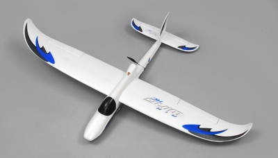 AirWing Wingsurfer 4 Channel RC Glider EPO Kit (Blue) RC Remote Control Radio