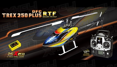 Align RC 6 Channel Helicopter T-REX 250 PLUS DFC RTF RH25E04X