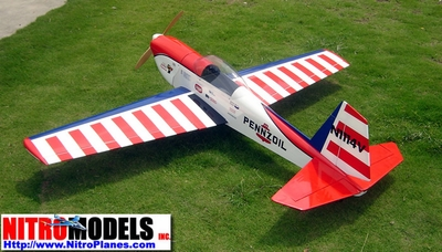 "All-Balsa Super Chipmunk 40 - 64"" Radio Remote Controlled Glow Nitro Gas Powered RC Aerobatic ARF Airplane A032_SuperChipmunk"