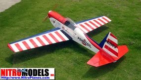 "All-Balsa Super Chipmunk 40 - 64"" Radio Remote Controlled Glow Nitro Gas Powered RC Aerobatic ARF Airplane"
