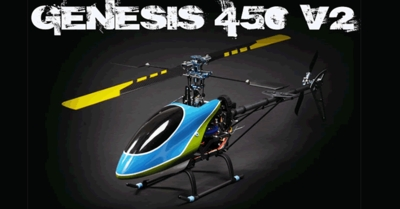 All NEW Genesis 450PE RC Helicopter - Fully Loaded 2.4Ghz RTF Helicopter CCPM 3D RC w/ CNC Upgrades/Brushless Motor/ESC/Gyro/LiPo Battery/Carbon Fiber Blades,Fiber Glass Canopy