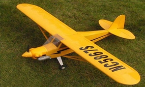 "Almost-Ready-to-Fly Piper J-3 Cub 25 - 50"" Glow Powered Radio"