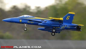 "ARF Receiver-Ready 4-Ch AirField RC F-18C 670mm (26.4"") EDF RC Jet w/ Brushless Motor+ESC (Blue Angel) RC Remote Control Radio 93A18-F18-BlueAngel-ARF"