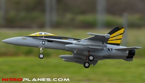"ARF Receiver-Ready 4-Ch AirField RC F-18C 670mm (26.4"") EDF RC Jet w/ Brushless Motor+ESC (Grey) RC Remote Control Radio"