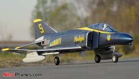 ARF Receiver-Ready AirField RC 70MM F-4E EDF RC Jet w/ Brushless Motor+ESC (Blue Angel)