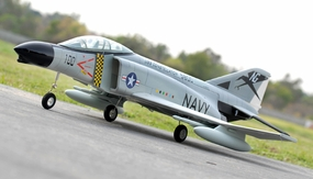 ARF Receiver-Ready AirField RC 70MM F-4E EDF RC Jet w/ Brushless Motor+ESC (Sky Grey) RC Remote Control Radio 93A04-AirField-F4-SkyGrey-ARF