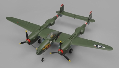 Art Tech P38 Warbird RC 4 Channel Ready to Fly 1200mm Wingspan