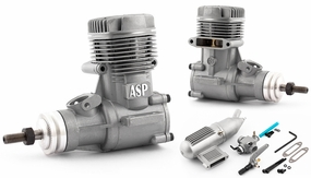 ASP S46AII 2 Stroke Glow Engine with Muffler for Airplane 72P-S46AII