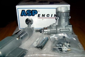 ASP S52AII 2 Stroke Glow Engine with Muffler for Airplane 72P-S52AII