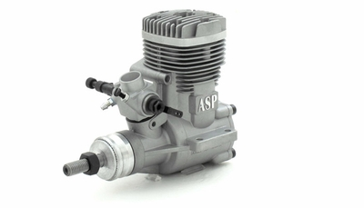 ASP S61A  2 Stroke Glow Engine with Muffler for Airplane