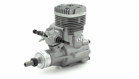 ASP S61A  2 Stroke Glow Engine with Muffler for Airplane 72P-S61A