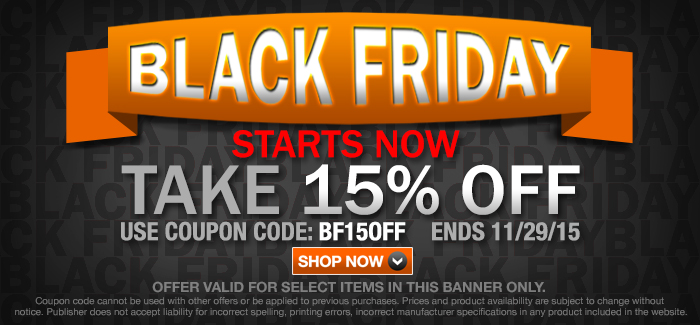 BLACK FRIDAY SALE | Take 15% OFF! | CODE: BF15OFF BY 11/29 Sunday