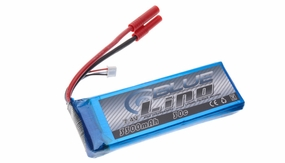 Blue Lipo 2-Cell 3300mAh 7.4v 2S1P 30C RC Battery