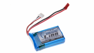 Blue Lipo 2-Cell 800mAh 7.4v 2S1P 20C RC Battery w/ JST Connector