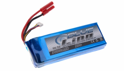 Blue Lipo 5-Cell 3000mAh 18.5v 5S1P 20C RC Battery