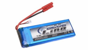 Blue Lipo 5000mAh 2S1P 7.4v 20C Battery
