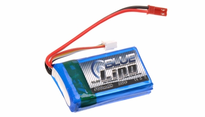 Blue Lipo 500mAh 3S1P 11.1v 20C Battery