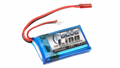 Blue Lipo 800mAh 2S1P 7.4v 15C Battery
