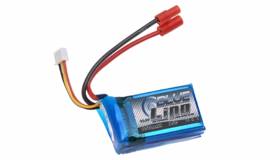 Blue Lipo 950mAh 3S1P 11.1v 15C Battery