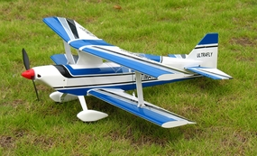 Blue Ultra Flying Ultimate BiPE ARF Brushless Electric Radio Remote Controlled Airplane R/C Aerobatic Bi-Plane
