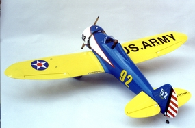 "Boeing P-26 Peashooter 90 - 71"" ARF Nitro Gas Radio Remote Controlled Aerobatic RC Aircraft - Almost-Ready-to-Fly Plane"