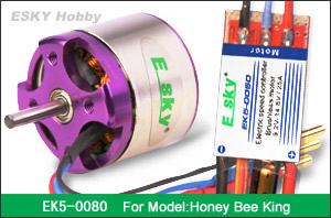 brushless motor 40g  3100RPM/V +speed controller 25A (FOR HONEY BEE KING)