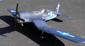 "CMP F4U Corsair 120 - 76"" Nitro Gas Radio Remote Controlled RC Plane ARF Airplane Warbird"