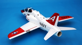"CMP Super High Quality Fiberglass T-45 45"" EDF RC Jet w/ Fixed LG RC Remote Control Radio"