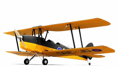 CMP Tiger Moth 1250mm RC Bi-Plane Kit RC Remote Control Radio