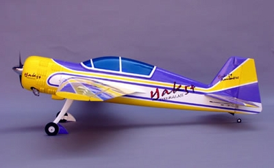 "CMP Yak 54 ARF 140 - 71.5"" Nitro Gas Radio Remote Controlled Aerobatic RC Airplane Almost-Ready-to-Fly Plane CMP-Gas-Yak140"