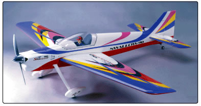 "CMPro Swallow EX 90 - 66"" Nitro Gas Radio Remote Controlled RC Plane ARF"
