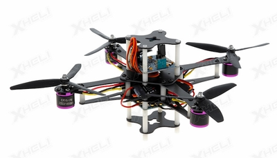 CR4-230 QuadCopter w/ KK Board Brushless Motor, 12A ESC ARF (Black)