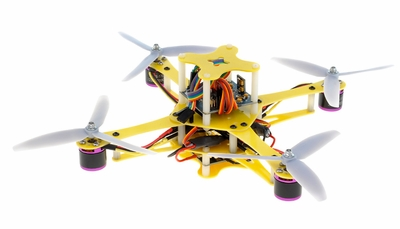 CR4-230 QuadCopter w/ KK Board Brushless Motor, 12A ESC ARF (Yellow)