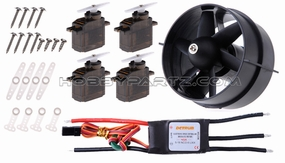 Detrum 64mm EDF power combo set (64mm EDF+40A ESC+4pcs 9g servos+KV3600 brushless motor) 60P-64MM-EDF-Combo