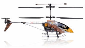 Double Horse 9051 3-Channel Brown Eagle Metal Frame RC Helicopter w/ Built in Gyro & Flashing LED Lights