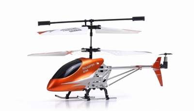 Double Horse 9098 3-Channel Double Horse Mini Palm Size RC Helicopter RTF w/ Aluminum Frame/Lights/ & Gryoscope System (Orange) RC Remote Control Radio