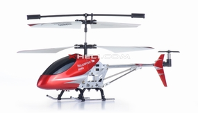 Double Horse 9098 3-Channel Mini Palm Size Radio Control Helicopter RTF w/ Aluminum Frame/Lights & Gyroscope System (Red)