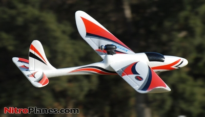 Dynam 3-CH EZ Hawk 1370MM Electric Radio Remote Control RC Glider Plane RTF (Red)