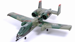 Dynam 4-CH A-10 Thunderbolt II Twin 64mm Brushless EDF Remote Control RC Jet 2.4G RTF (Army Green) RC Remote Control Radio