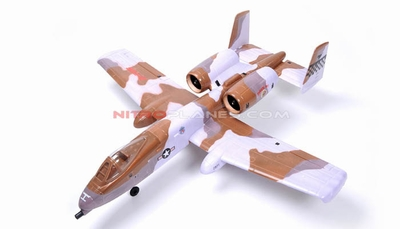 Dynam 4-CH A-10 Thunderbolt II Twin 64mm Brushless EDF Remote Control RC Jet 2.4G RTF (Desert Storm)