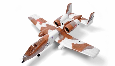 Dynam 4-CH A-10 Thunderbolt II Twin 64mm Brushless EDF Remote Control RC Jet RTF (Desert)