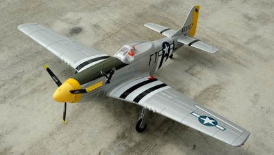 Dynam 5-CH P51D 1200mm Remote Control RC Warbird Plane 2.4G RTF w/ Brushless Motor+ESC + E-Retracts