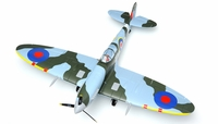 Dynam 5-CH Spitfire 1200mm RC Remote Control ARF  w/Motor ESC & Electric Retracts